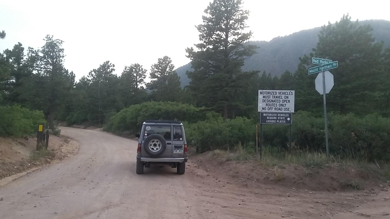 Mount Herman Road - Waypoint 2: Lower Gate - Go Straight