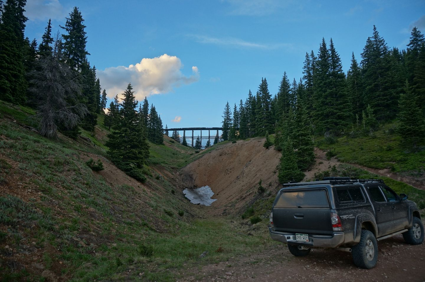 Rollins Pass West - Waypoint 5: Hiking Trail to Riflesight Notch Trestle