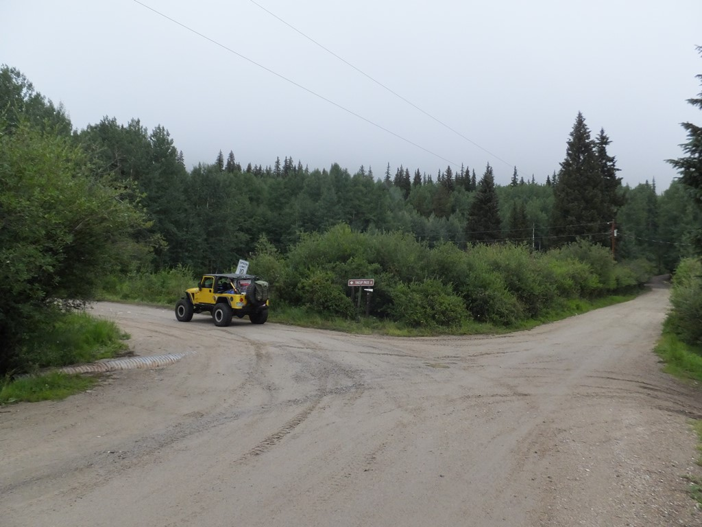 Tincup Pass - Waypoint 3: Left at sign for Tincup Pass