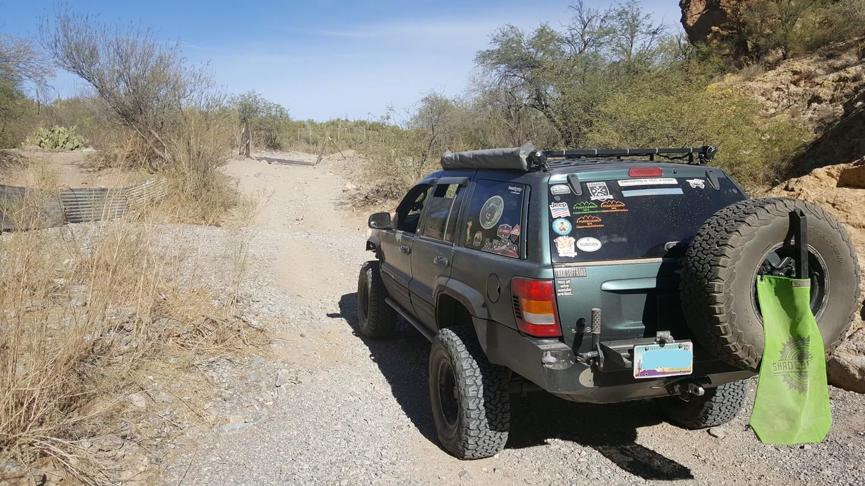 Box Canyon - Florence, Arizona - Waypoint 4: Exiting Box Canyon Keep Straight