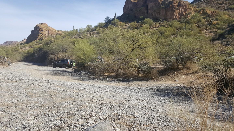 Box Canyon - Florence, Arizona - Waypoint 5: Veer Left onto Road