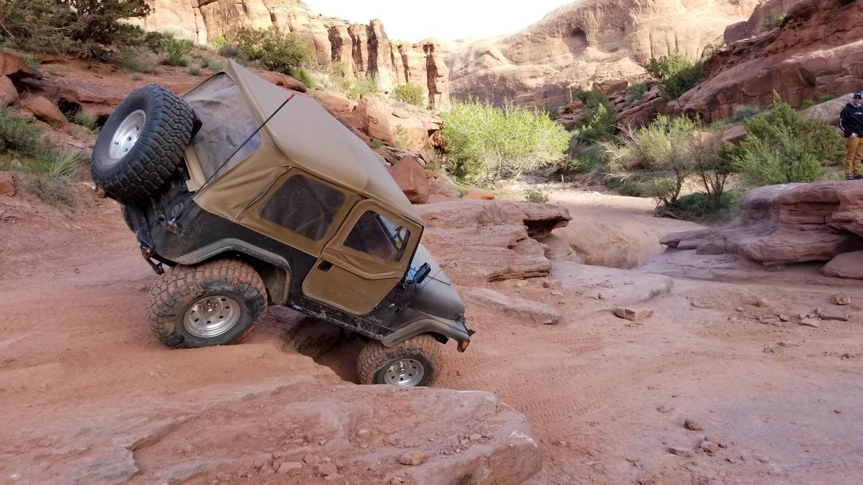 Pritchett Canyon - Waypoint 4: Right Turn 5-Foot Ledge - aka Brick Yard