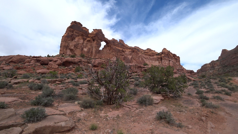 Pritchett Canyon - Waypoint 11: View of Window Arch