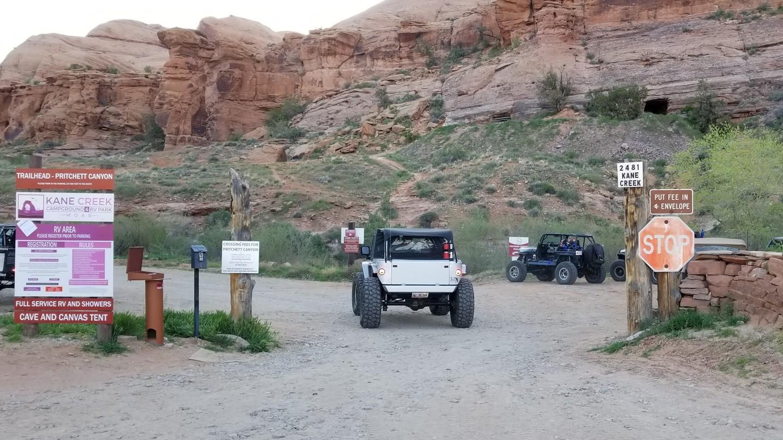 Pritchett Canyon - Waypoint 1: Pritchett Trailhead