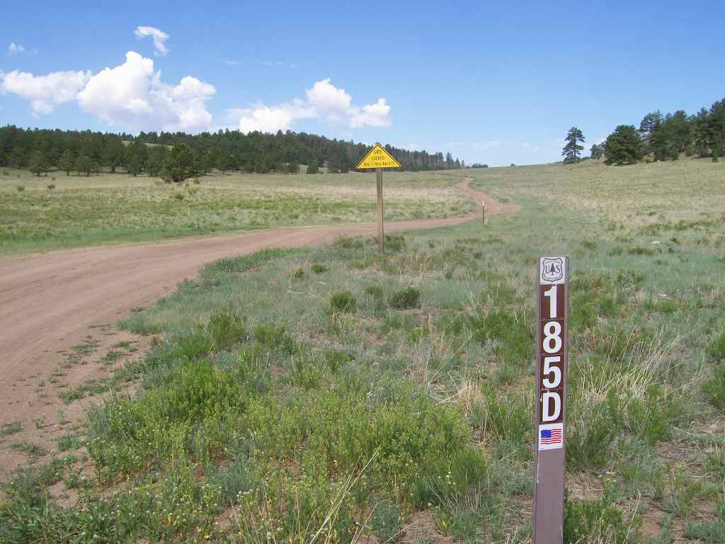 Aspen Ridge - Waypoint 3: Intersection FS Road 185D