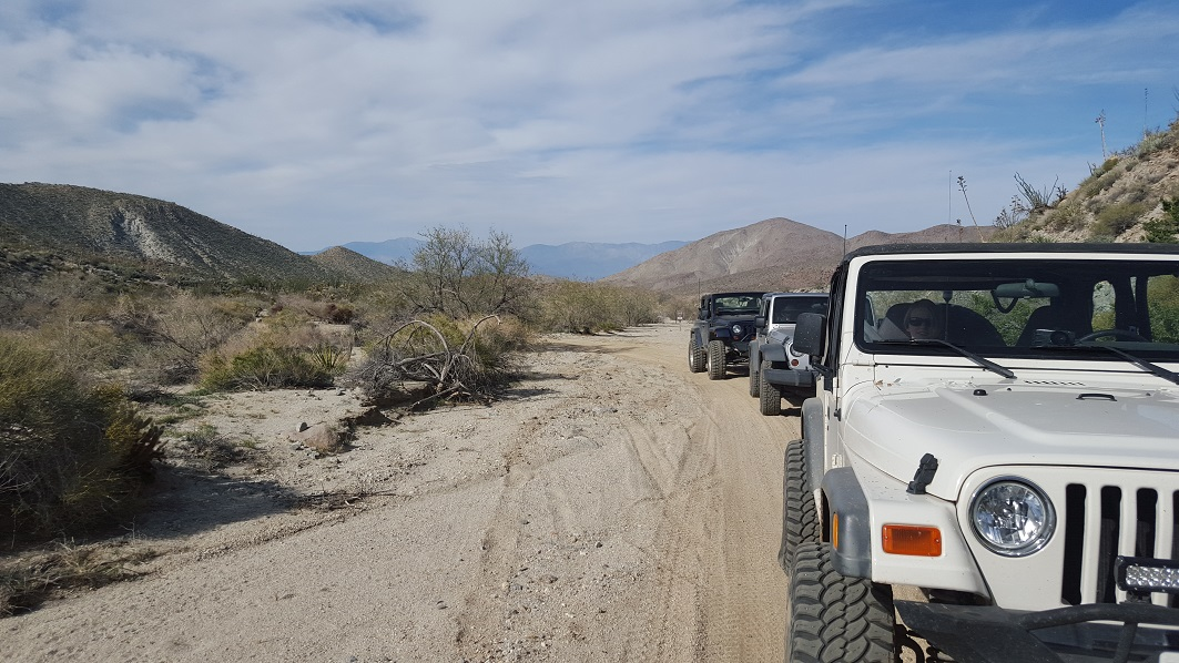 Fish Creek Trail - Anza Borrego - Waypoint 12: End of Fish Creek at Hapaha Flats (Pinyon Mtn)