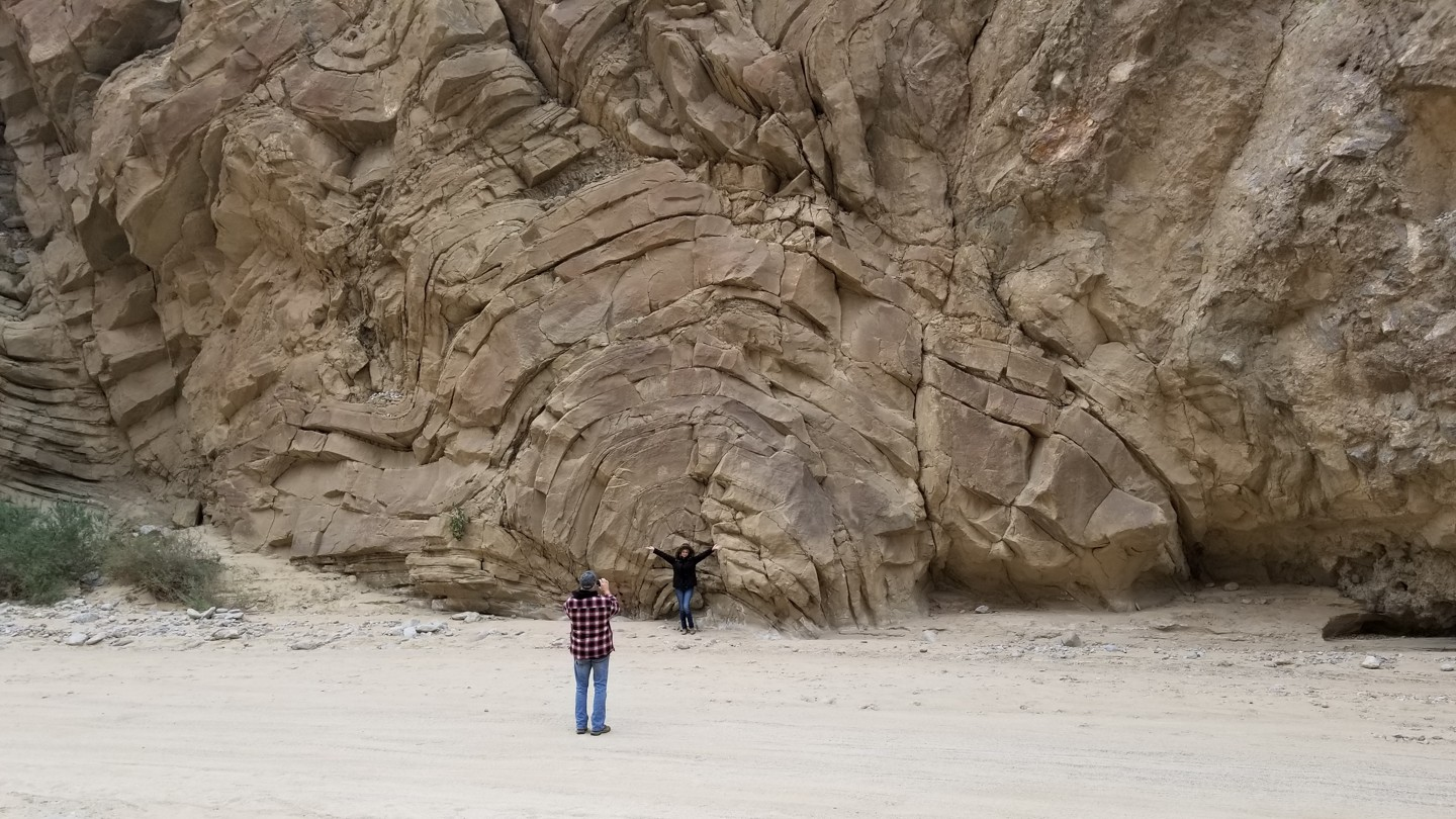 Fish Creek Trail - Anza Borrego - Waypoint 3: Fault Twisted Rocks