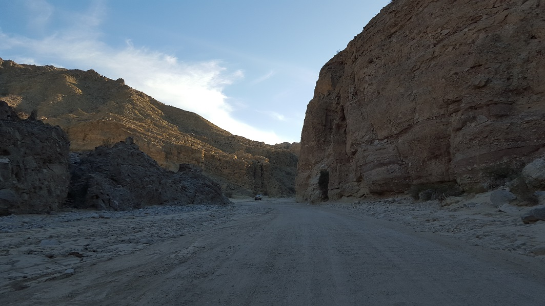 Fish Creek Trail - Anza Borrego - Waypoint 1: Split Mountain Road
