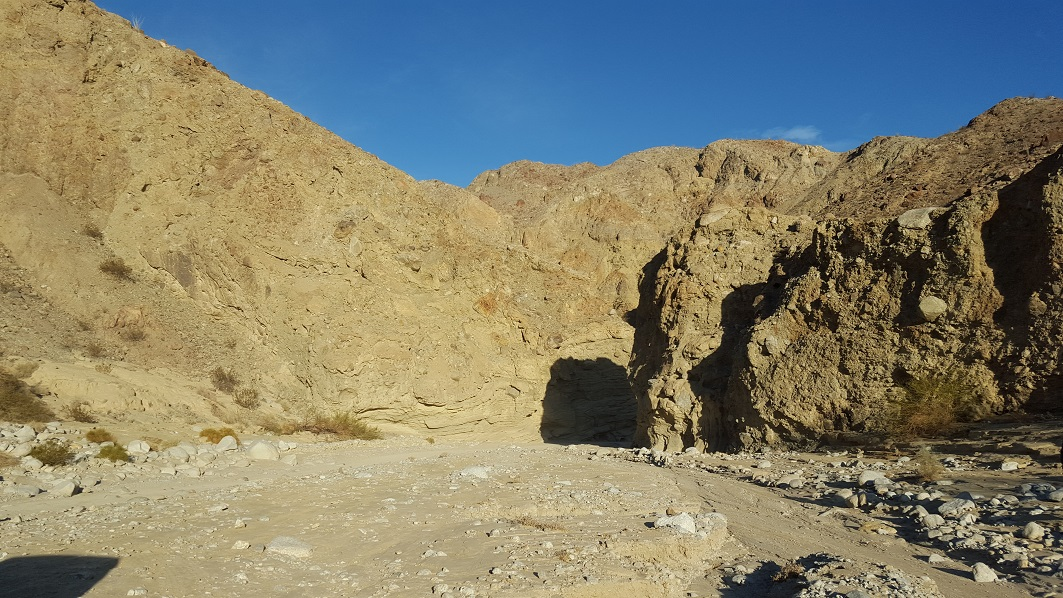 Fish Creek Trail - Anza Borrego - Waypoint 5: Wind Caves and Dinosaur Tracks