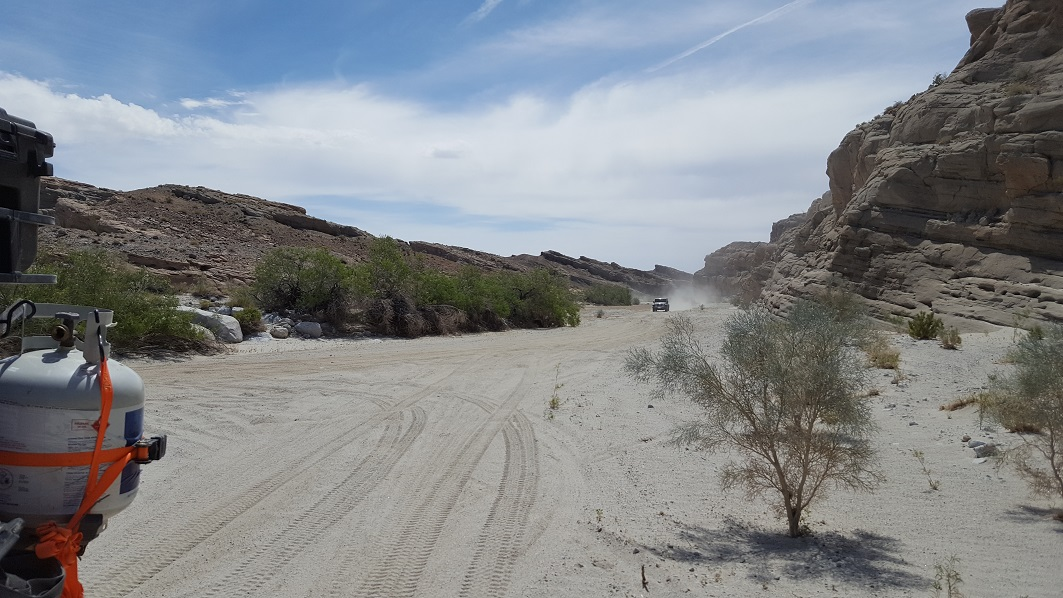 Fish Creek Trail - Anza Borrego - Waypoint 11: Fish Creek and Olla Wash (Stay East)