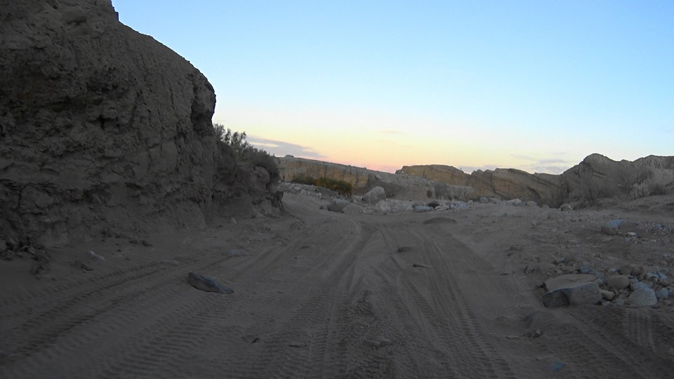 Fish Creek Trail - Anza Borrego - Waypoint 9: Diablo Drop Off (Stay in Wash)