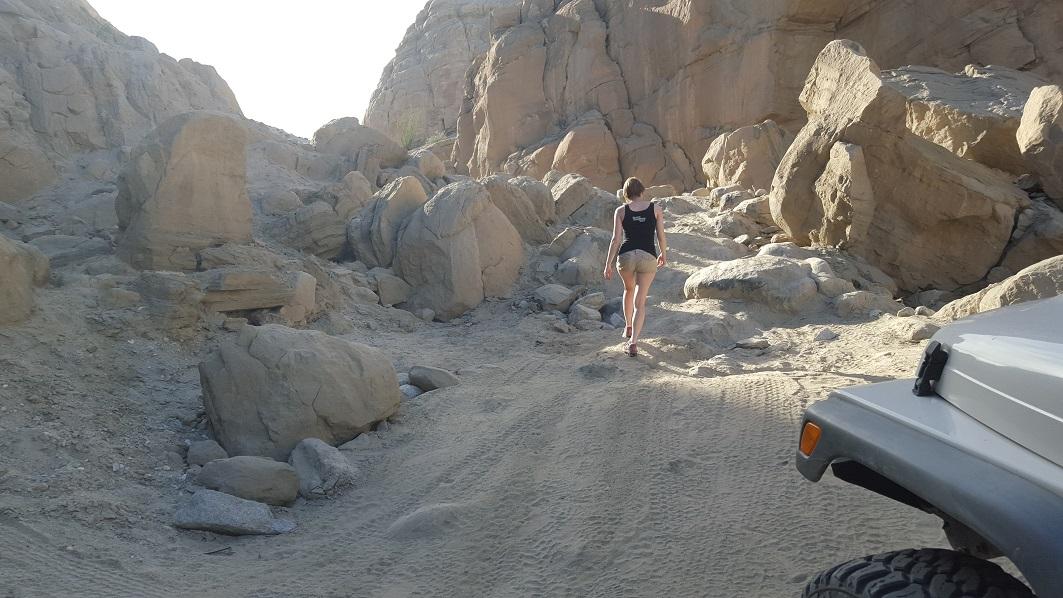 Sandstone Canyon - Waypoint 7: Big Rock Slide