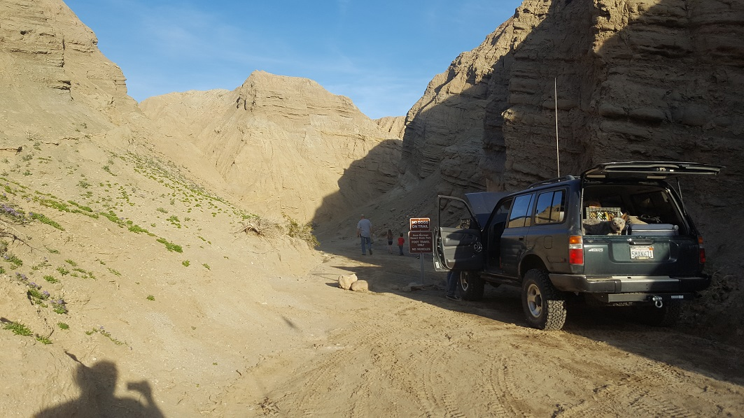 The Slot - Waypoint 5: West Most End of The Slot Canyon (Borrego Mountain Wash)