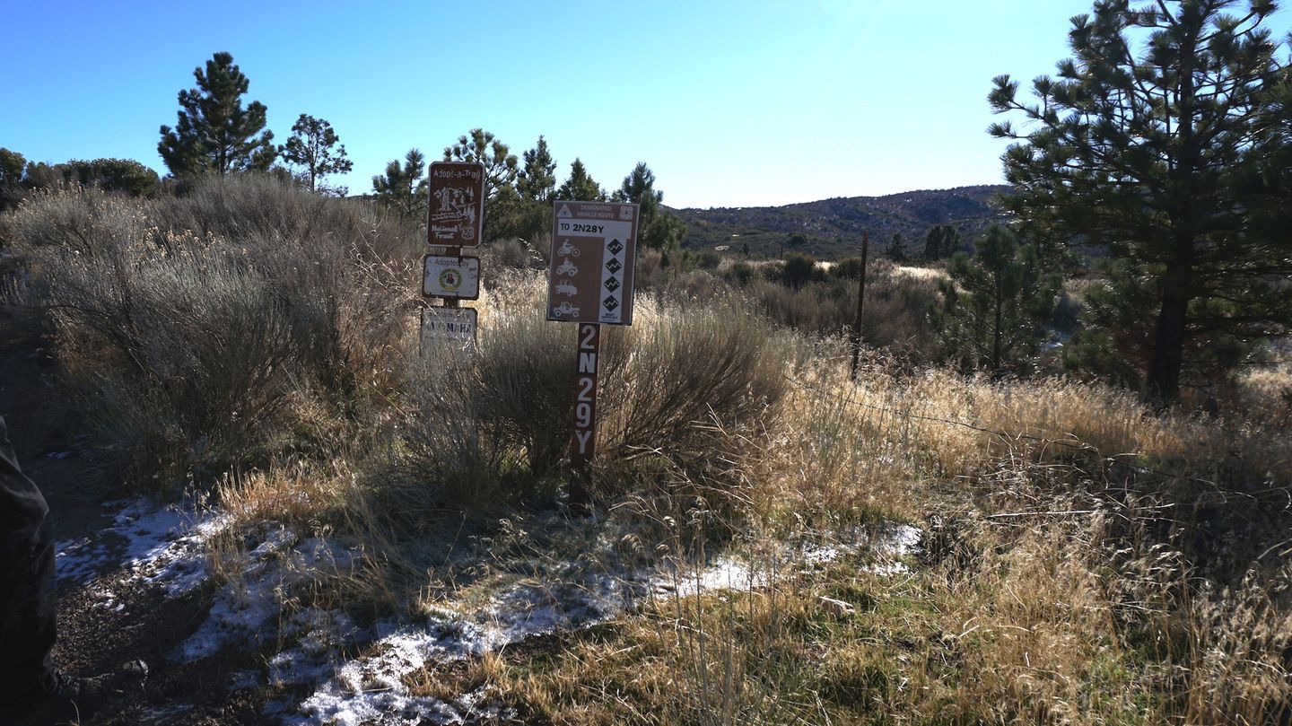 3N34 - Willow Creek Jeep Trail - Waypoint 16: 2N29Y - Stove Flats Intersection