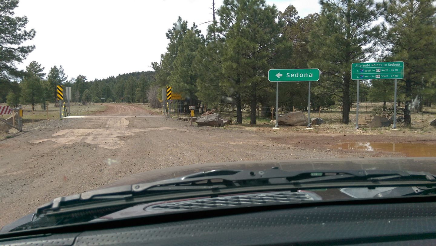 Schnebly Hill Road - Waypoint 17: I-17 Exit 320