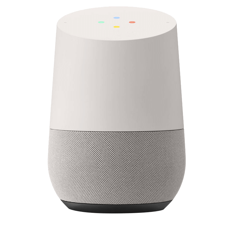 Google home image that can control Alert 360 Home Security sytems.