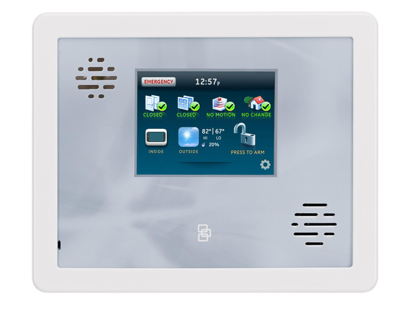 Generic control panel that can be taken over by Alert 360 home security service.