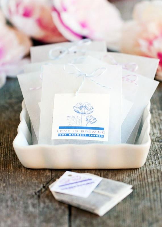 Faveurs de mariage de sachet de thé bricolage