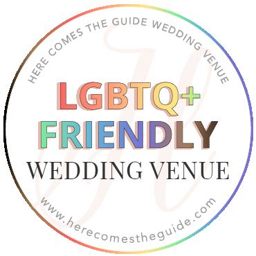 Here Comes The Guide LGBTQ+ Friendly Wedding Venue badge