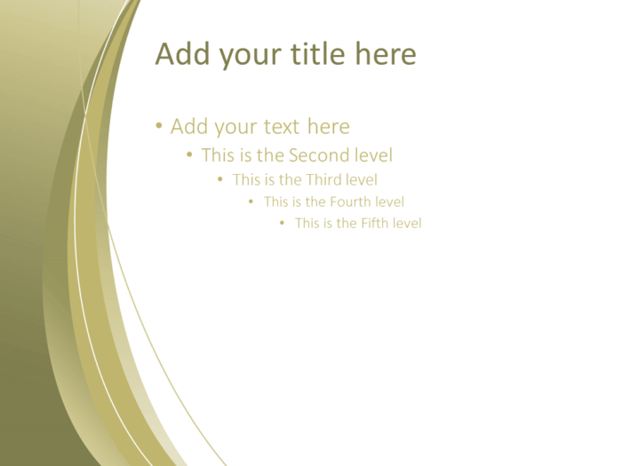 Free Gold Abstract PowerPoint Template - Title and Content slide