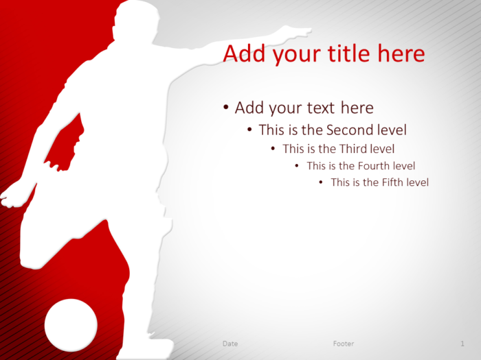 Soccer PowerPoint Template Red