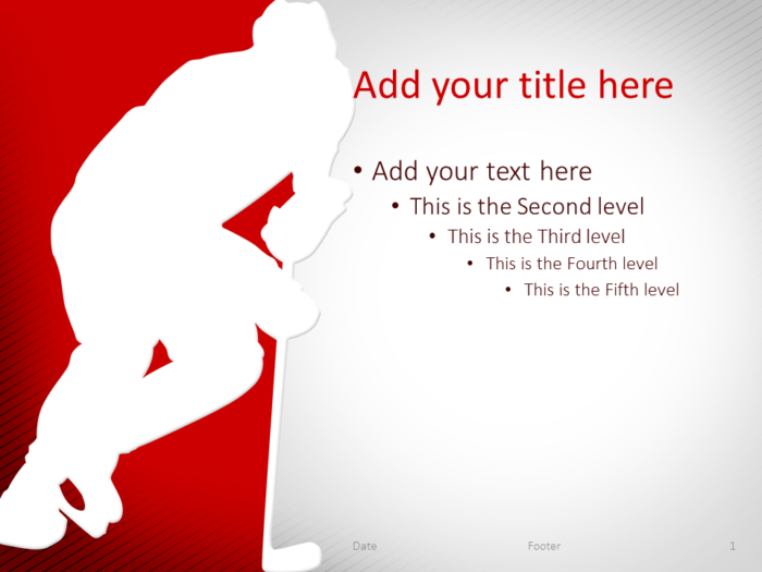 Hockey PowerPoint Template Red