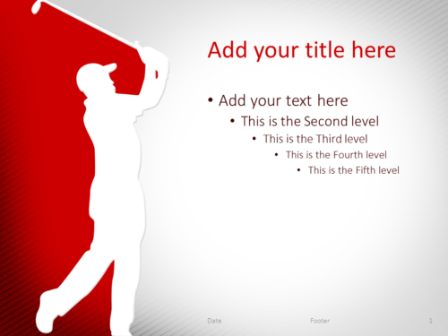 Golf PowerPoint Template Red