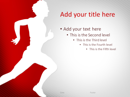 Running PowerPoint Template Red