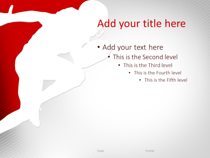 Football PowerPoint Template Red