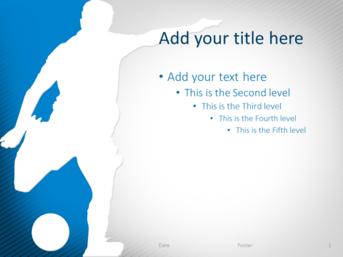 Soccer PowerPoint Template Blue