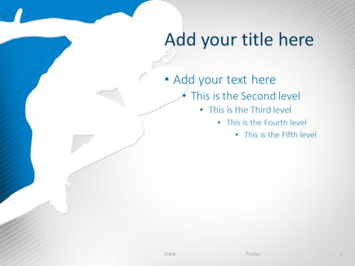 Football PowerPoint Template Blue