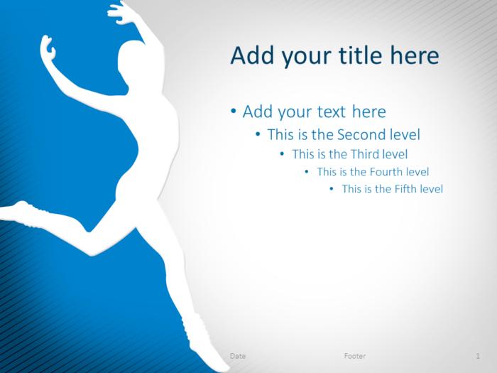 Dance PowerPoint Template Blue