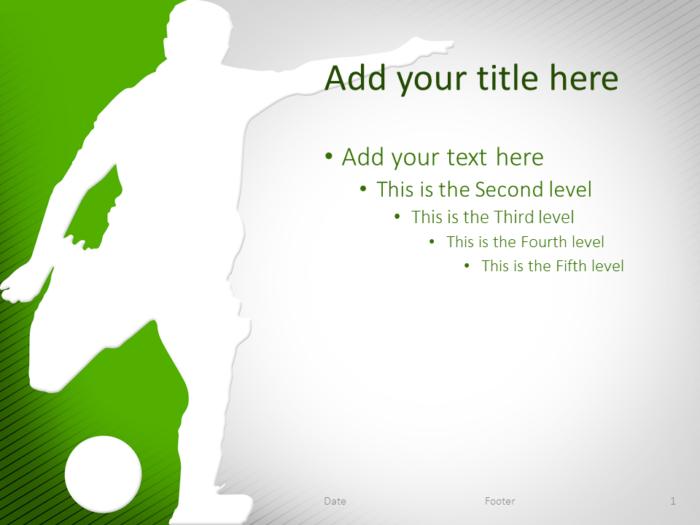 Soccer PowerPoint Template Green
