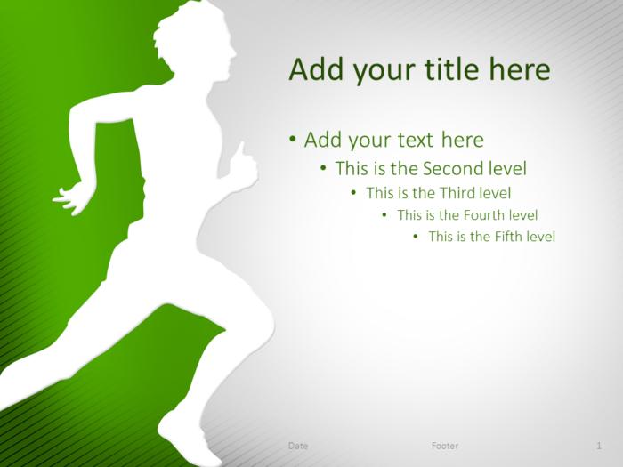 Running PowerPoint Template Green