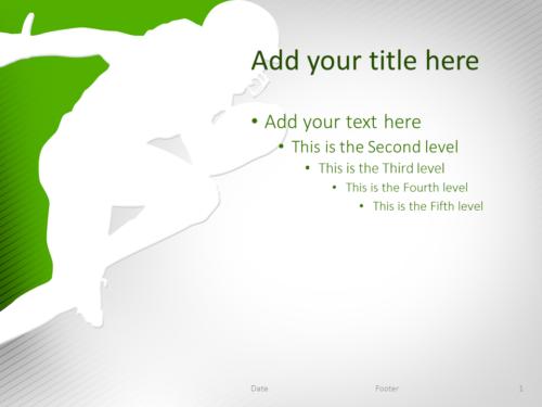 Football PowerPoint Template Green
