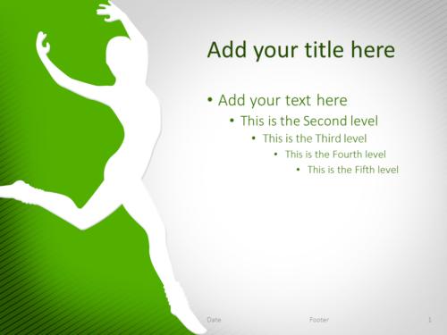 Dance PowerPoint Template Green