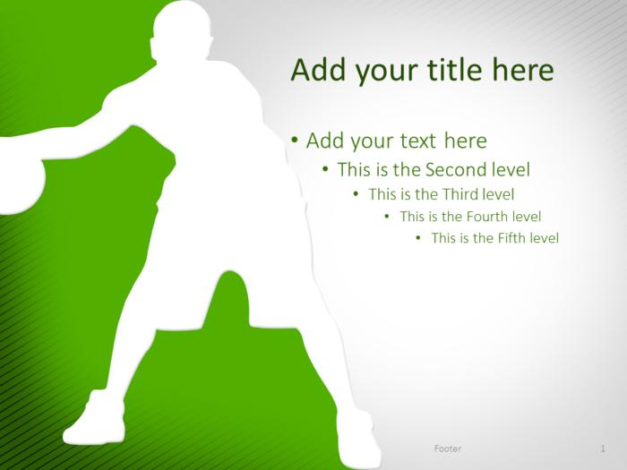 Basketball PowerPoint Template Green