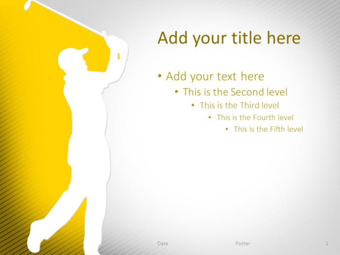 Golf PowerPoint Template Yellow