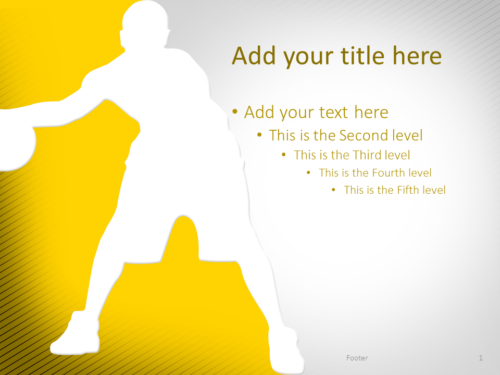 Basketball PowerPoint Template Yellow