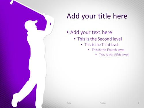 Golf PowerPoint Template Purple