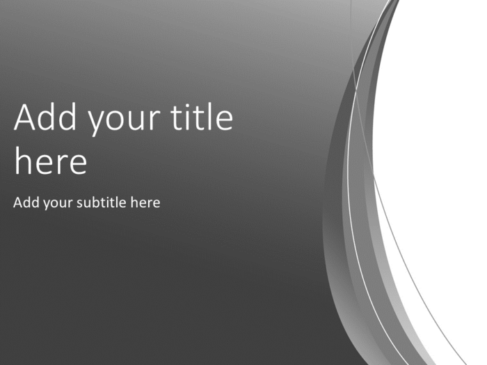 Gray Abstract PowerPoint Template