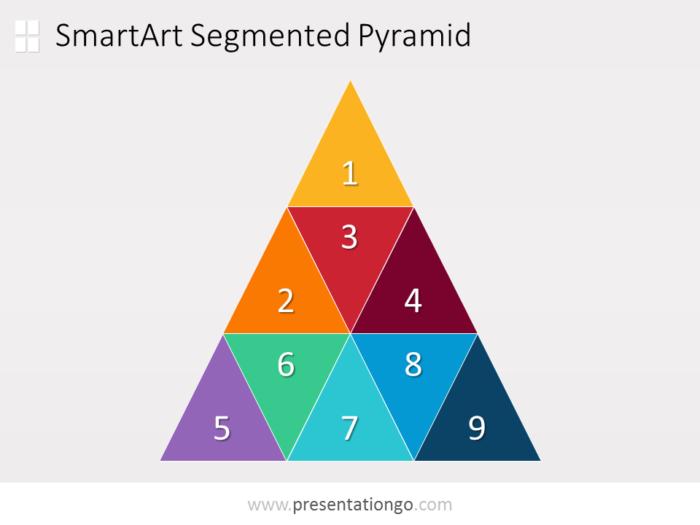 Free segmented PowerPoint pyramid