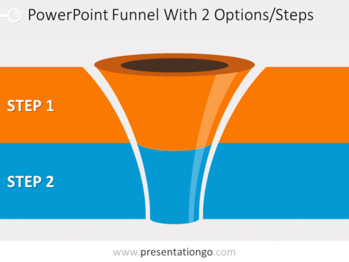 Free editable curved PowerPoint funnel diagram with 2 levels