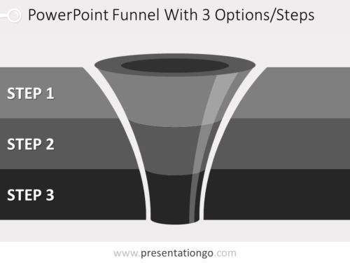 Free editable 3 level funnel diagram for PowerPoint
