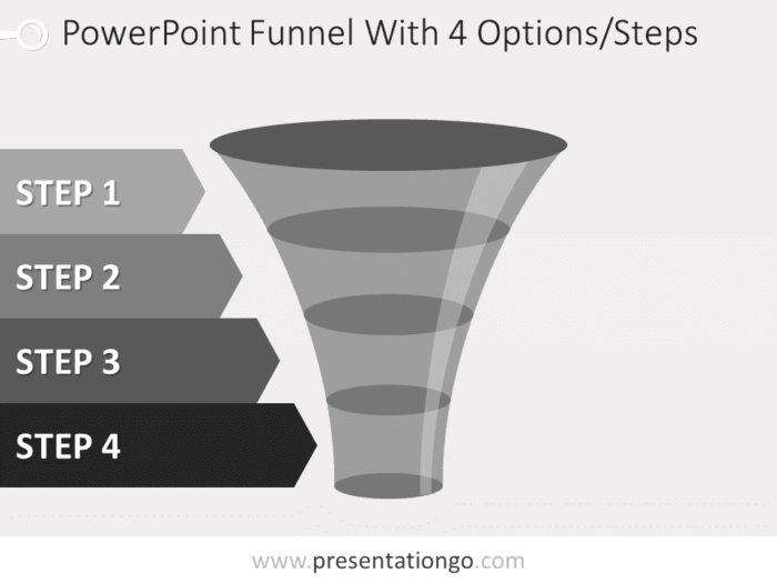 Free editable gray PowerPoint funnel