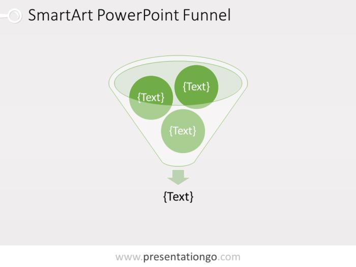 Free SmartArt PowerPoint Funnel Template
