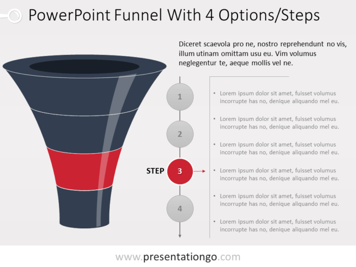 Free PowerPoint Funnel Evolution with 4 Steps - Level 3