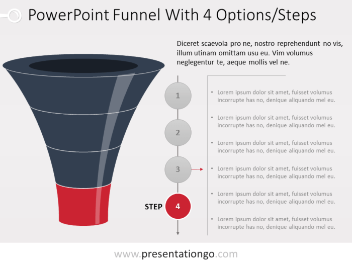 Free PowerPoint Funnel Evolution with 4 Steps - Level 4