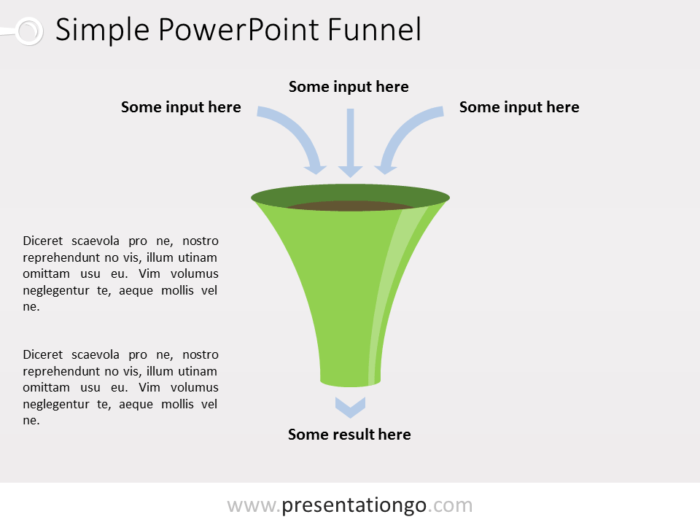 Free PowerPoint Funnel with Input Arrows