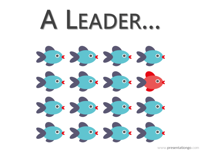 Leader Metaphor PowerPoint - Fishes